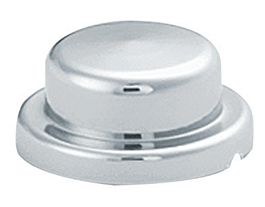 "P028-10-Chrome ABS Top Hat Nut Cover 1/2"" & 13mm"