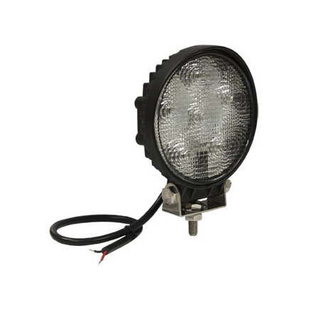 1492115 by BUYERS PRODUCTS - Round Clear LED Flood Light, 12-24V, Black Housing