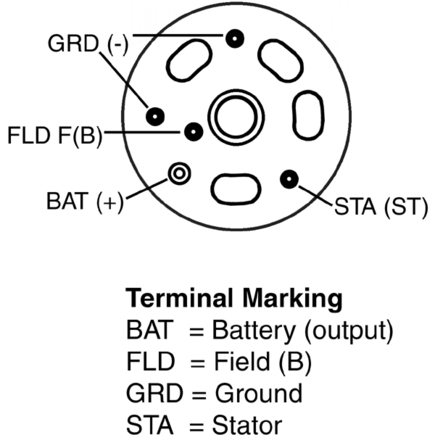 2706070150 also 1967 Mustang Alternator Wiring Diagram together with One Wire Alternator Wiring Diagram Tractor further Jeep Yj Rear Wiper Motor Wiring moreover Gm Ignition Module Diagram. on delco remy alternator parts
