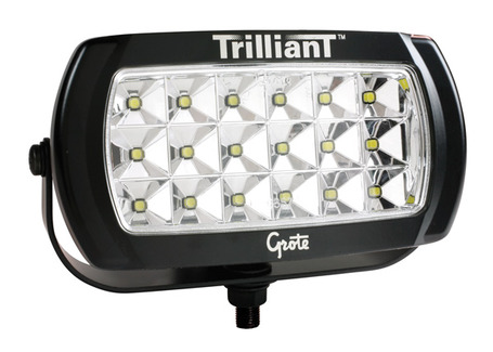 63E51 by GROTE - Trilliant® LED Work Lamp, w/ Reflector, Wide Flood
