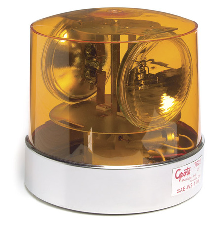 76223 by GROTE - Two Sealed-Beam Roto-Beacon, Yellow