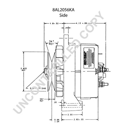 wiring diagram for denso alternator with Leece Neville 8al2056ka on Volvo Electrical System Wiring Diagram besides Denso Alternator Wiring Diagram 1052814 likewise Leece Neville A0012824lc moreover Wiring Diagram Alternator Charging moreover Alternator.