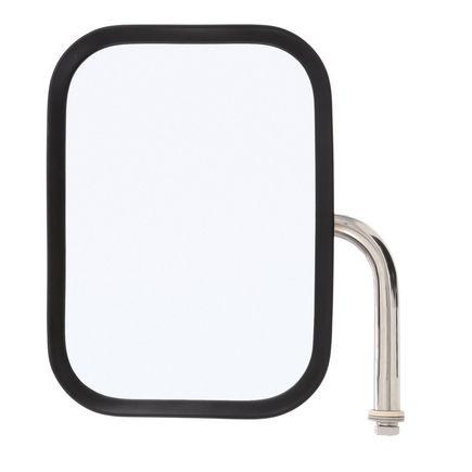 "97662 by TRUCK-LITE - Medium Duty Truck Mirror 7-1/2'' x 10-1/2'' Rectangular Stainless, 5"" Elbow, Flat Mirror, Universal"